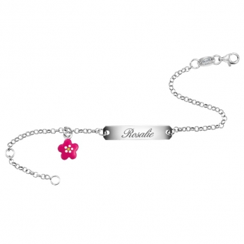 Blume | SCOUT Armband silber, rosa