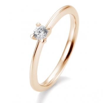 Antragsring | Solitaire Ring Rotgold mit 0,15 ct W/SI