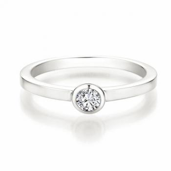 Solitaire Ring | Antragsring Weissgold mit 0,150 ct W/SI