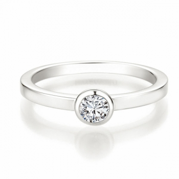 Solitaire Ring | Antragsring Weissgold mit 0,250 ct W/SI