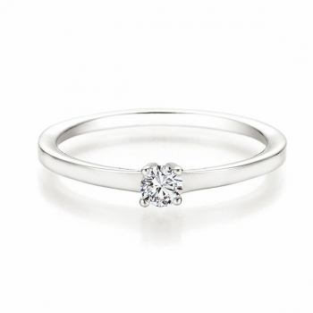 Antragsring | Solitaire Ring Weissgold mit 0,150 ct