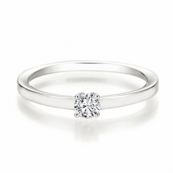 Antragsring | Solitaire Ring Weissgold mit 0,200 ct