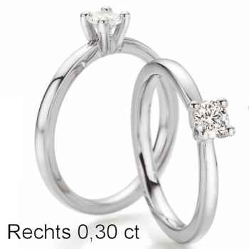 Weissgold Ring Solitaire 0,300 ct