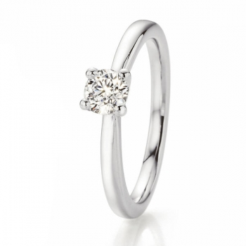 Weissgold Ring Solitaire 0,400 ct