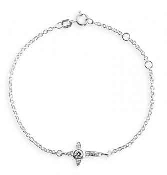 Heartbreaker cross Silber Armband