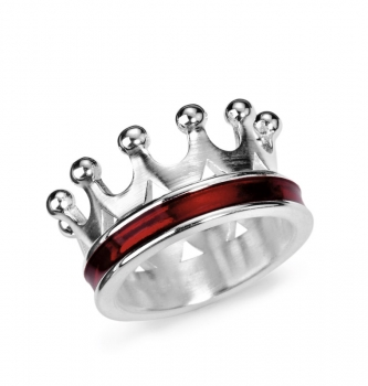 Crown of my Heart, Kronen Ring Silber - Brandlack