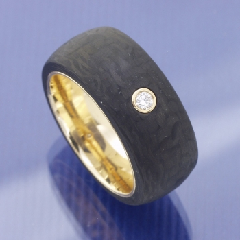 Carbon Apricotgold Ring 10 mm
