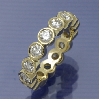 Memory Ring  750/°°° Gelbgold
