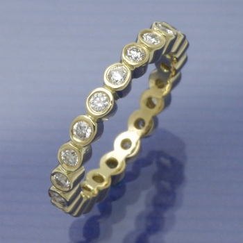 Memory Ring  750/°°° Gelbgold 0,52 ct TW-si