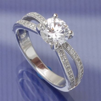 Antragsring Silber Solitaire