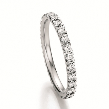 Memoire Ring 585 Weissgold 0,810 ct