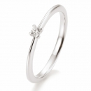 Antragsring | Solitaire Ring Weissgold mit 0,05 ct W/SI